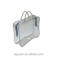 high quality custom colorful clear vinyl pvc zipper blanket bags