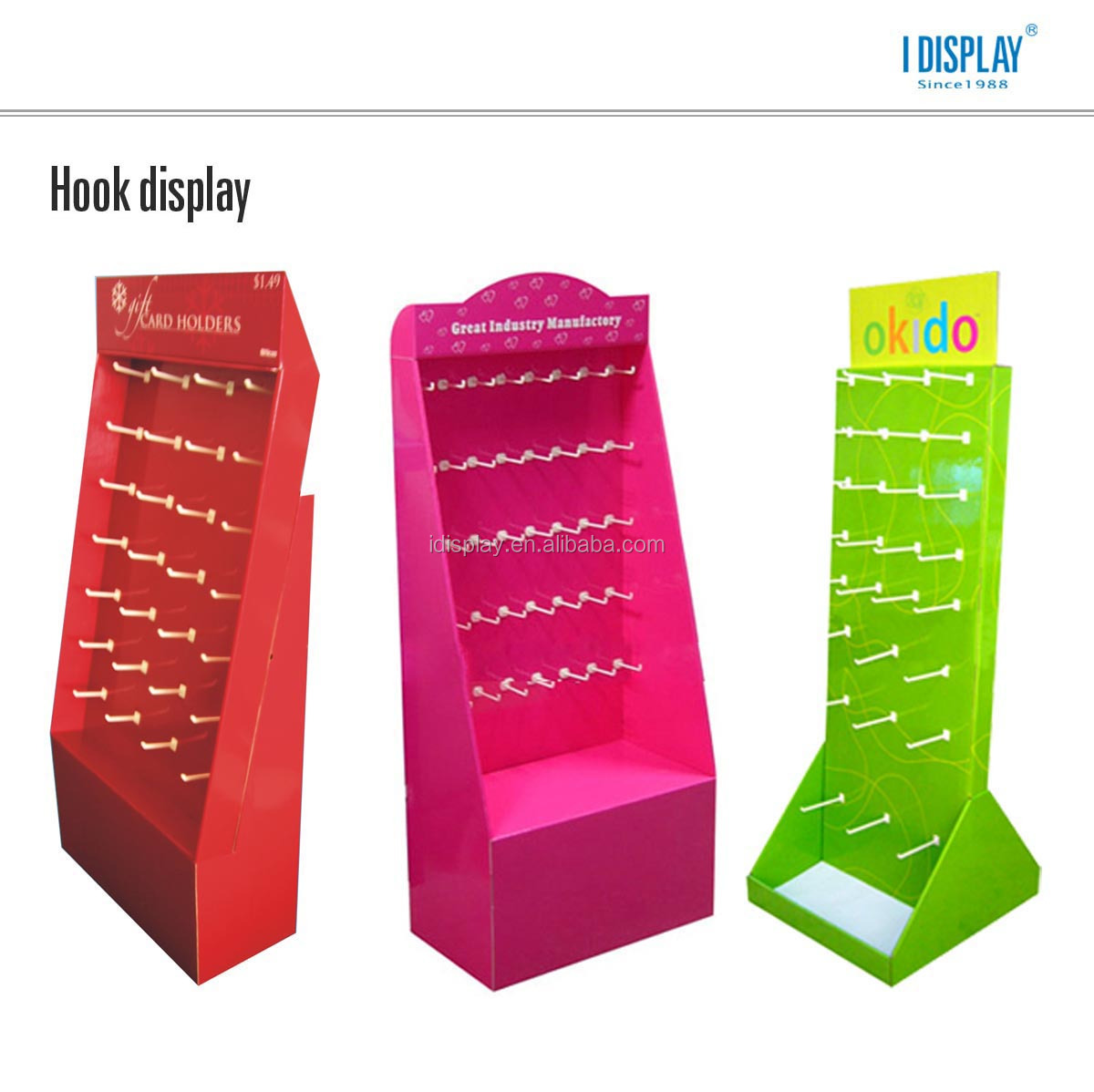 hair salon corrugated cardboard display shelf for hair extensions accessories