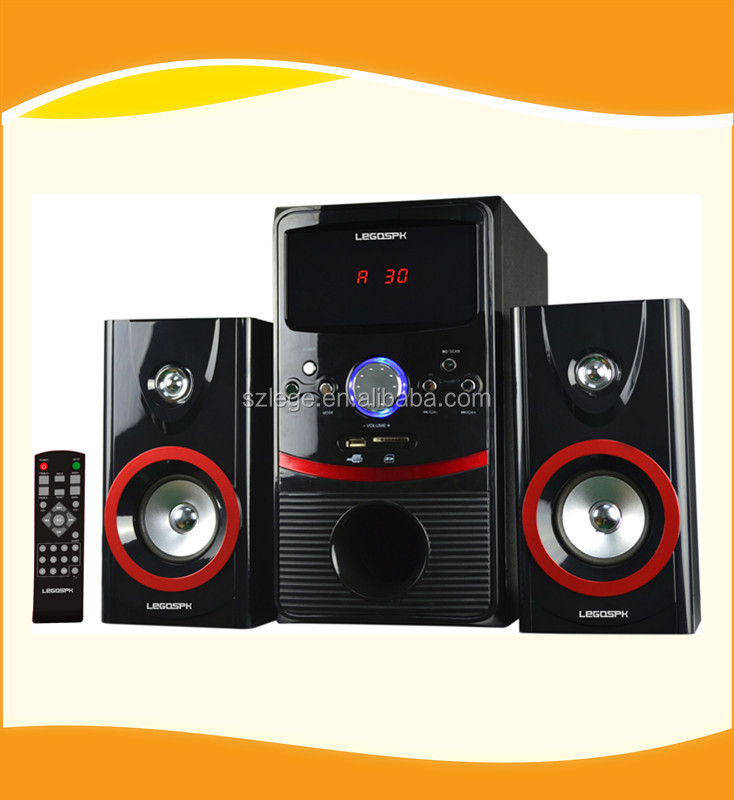 2.1 active multimedia speaker with USD SD FM REMOTE