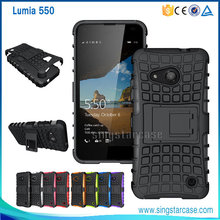 Rugged Shockproof Combo Hybrid Case For Nokia Lumia 550 Kickstand Case