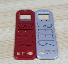 Colorful anodized beer open parts with metals,Customized sheet metal fabrication mobile phone cap