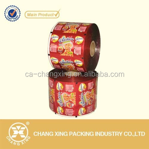 Flexible Leak Proof plastic Roll packaging film for snack food