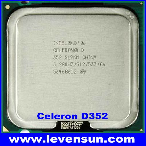 Desktop used pull clean intel cpu processor celeron D352 3.2GHz 512KB SL9KM SL96P