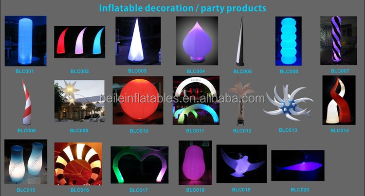 Outdoor Advertising cheapest product low cost inflatable star light column cone With logo