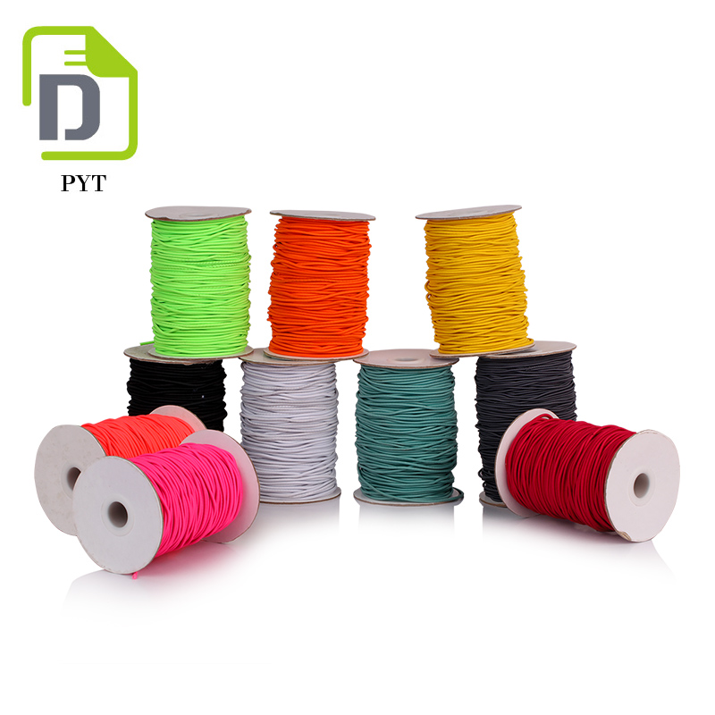 High tenacity colorful round elastic rubber string for face masks