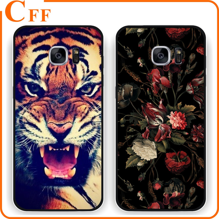 Fashion Brand Custom Design Case Wild Animal Black Dog Tiger TPU Mobile Phone Back Cover Case For Samsung Galaxy J2 On5