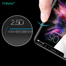 Cheap Price Cell Phone Screen Silk Tempered Glass Protector 2.5D for iPhone 8
