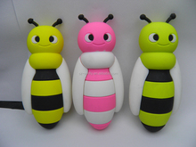 MINI Microphone power bank,Factory price,2600mAh beautiful Bee mobile power