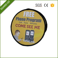 Pop Up Triangle Portable Outdoor Advertising Display