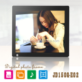 Newest large size 15 inch bulk motion sensor digital photo frame with wall mounted design