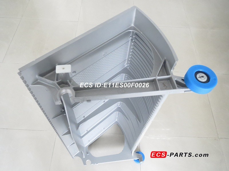 Replacement escalator step for schindler 9300 SMS405139 1000mm grey complete aluminum