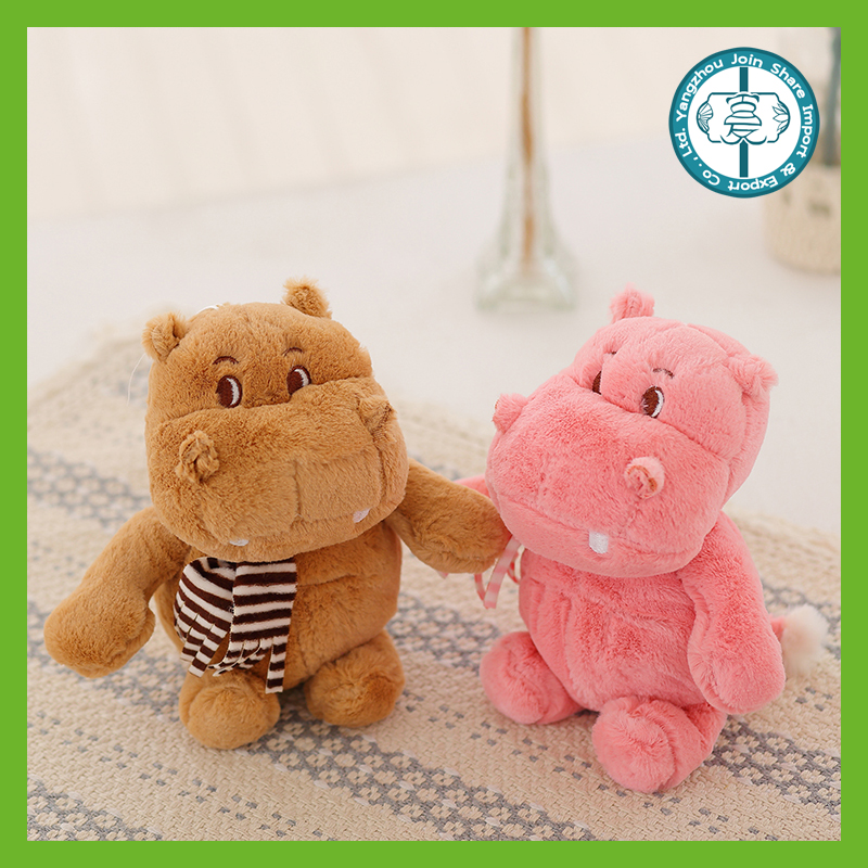 Hot selling kawaii colorful stuffed small soft plush hippo small doll for claw game