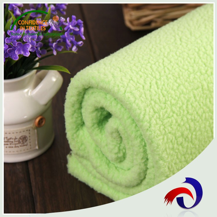 Textile china single jersey knit polyester fleece bonded fabric for wool