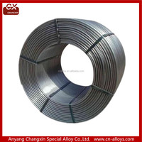 China produce CaSi cored wire /CaSi alloy cored wires Si55-60 Ca25-30