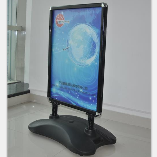 Outdoor water based sign stand double side pavement cheap poster stands
