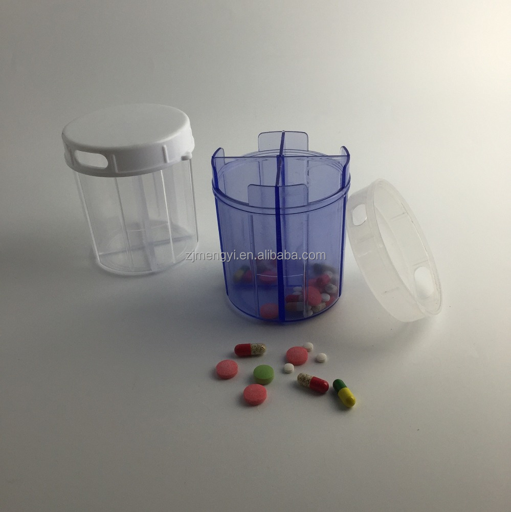 4 grid plastic pill box