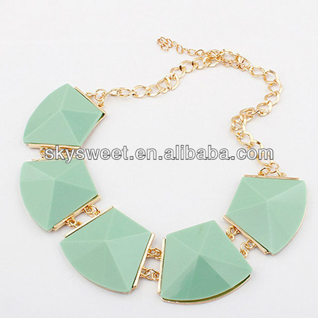 amy green necklace green tourmaline necklace irregular stone necklace wholesale (SWTNCXW15-4)