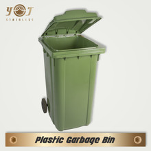 Decorative plastic 240 Liter Waste Dust Bin garbage can with wheels