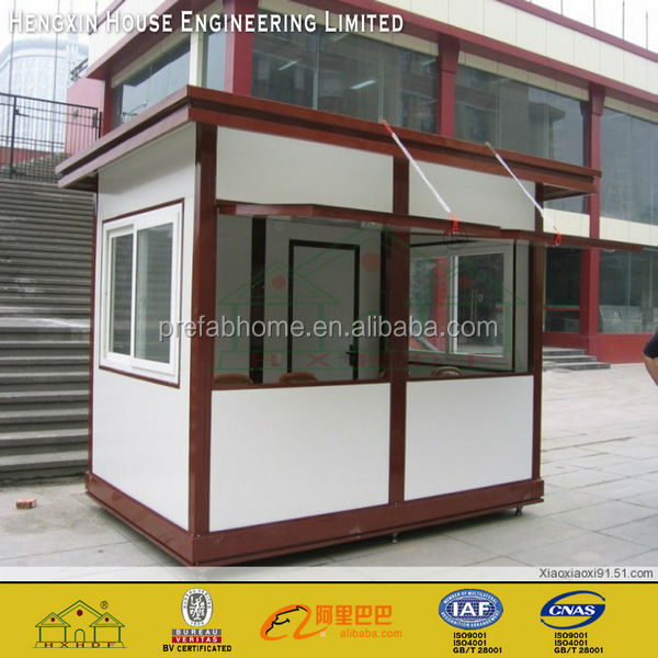Outdoor security mobile prefab guard house