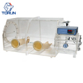 Clear Acrylic Glove Box with Pressure Controller Range 98-101kpa for Biological Research