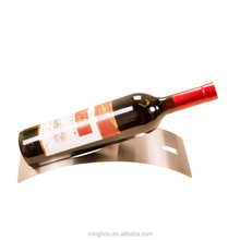 Small classical metal wine rack for one bottle