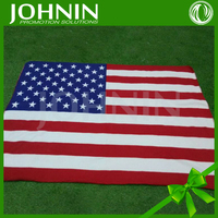 Hot Sale Wholesale Soft Flag Printed America Fleece Blanket