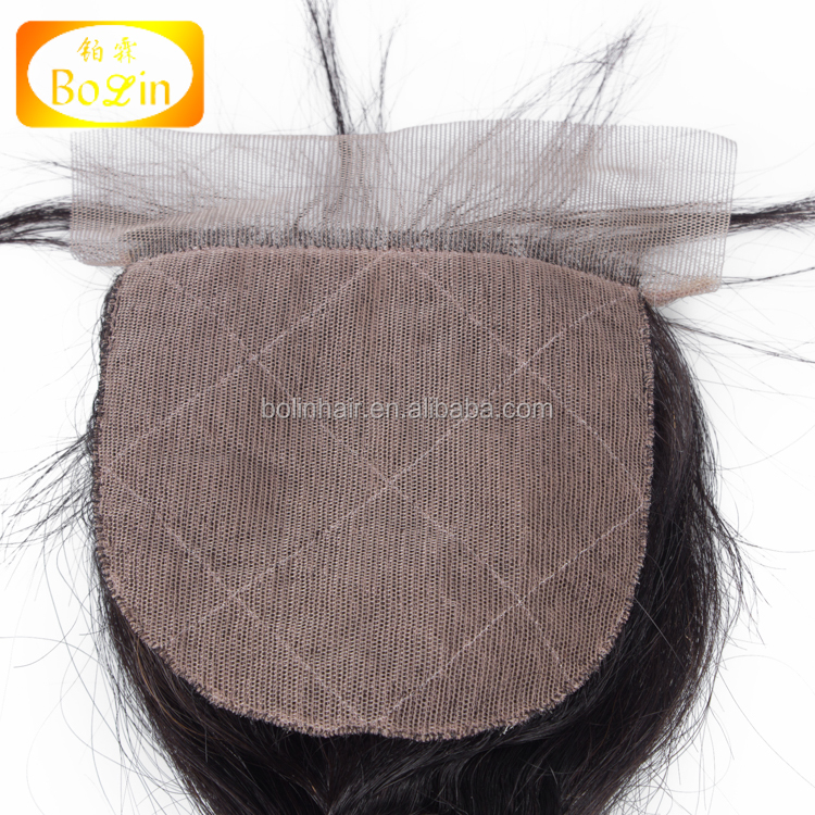 Qingdao Hair Factory Wholesale Loose Wave Silk Base Closure Silk Base Lace Frontal Closure Like Scalp