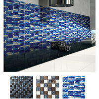 GRAND Chinese manufacture 12x12 glass mosaic floor tile
