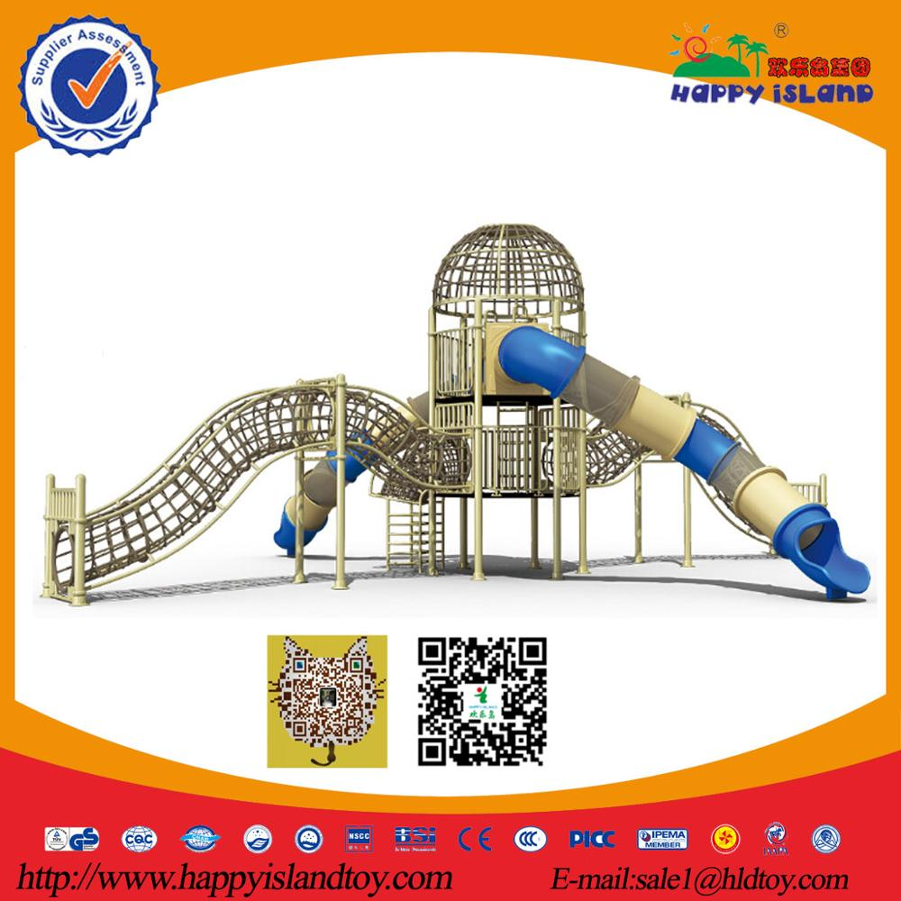 Large Plastic Tunnel Children Outdoor Long Curved children plastic slide Playground