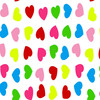 Soft Cotton Brushed Colored Hearts Printed Flannel Fabric for Baby Kids