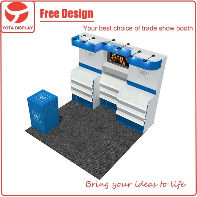 Yota custom 3x3 booth, 10x10 hot sale art exhibition display stands