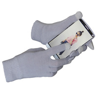 Seeway White Wool Touch Screen Gloves