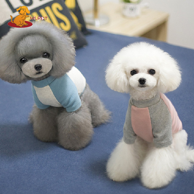 Lovely Popular Wholesale Cotton Knitted Dog Clothes T Shirts