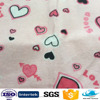 colorful heart printed flannel fabric cotton for baby bed sheet