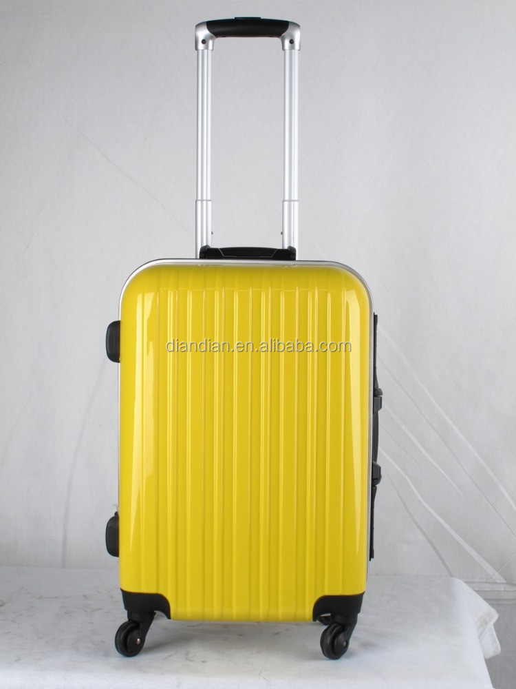 ABS+PC ALUMINIUM FRAME LUGGAGE TROLLEY CASE woman and men ABS luggage carry on luggage
