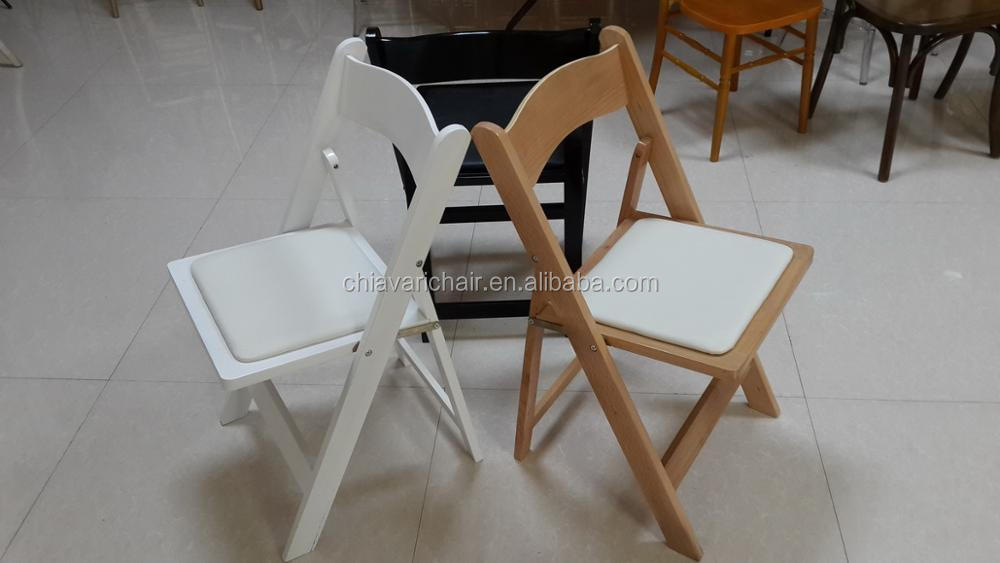 China White Black Color Wood Leisure Folding Garden Patio Chairs Furniture