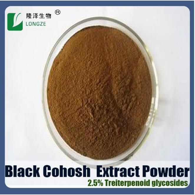 Standard Herbal Extract Black Cohosh Extract Powder with Antibacteria Triterpene Glycosides 2.5%,5%,8%