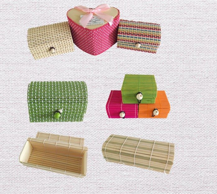 handmade natural bamboo rice box gift boxes on sale