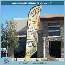 outdoor advertising teardrop flag high quality flying beach flag with knitted polyester banner flag