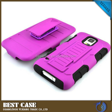 Shockproof 3 In 1 Combo Armor Robot Case For Samsung Galaxy Note 4 With Kickstand
