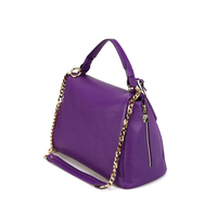 SP404 Women Purple Handbags Hobo Shoulder Bags Tote PU Leather Handbags with Chain Handle