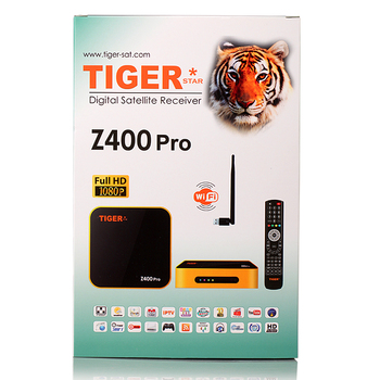 Hot selling models Tiger Z400 pro DVB-S2 support iptv with sexy full movie hd