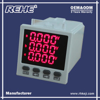 Free Sample Available Digital Panel Three Phase Digital Multimeter with RS-485 RH-3D8