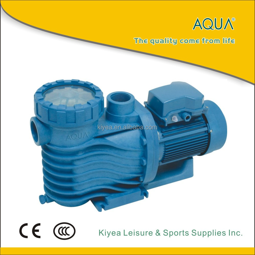 Quiet swimming pool filter feed pump for pool pump system