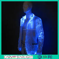 2015 luminous new style jazz dance costume mens jackets
