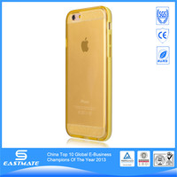 raised grain clear gel best sell print color pc case for apple iphone 6