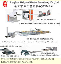 Fully automatic PS/Plastic foam thermocol plate/food box/bowl making machine