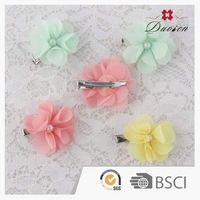 Hot New Products Fashion Style Custom Handmade Red Smart Metal Flower Hair Clips