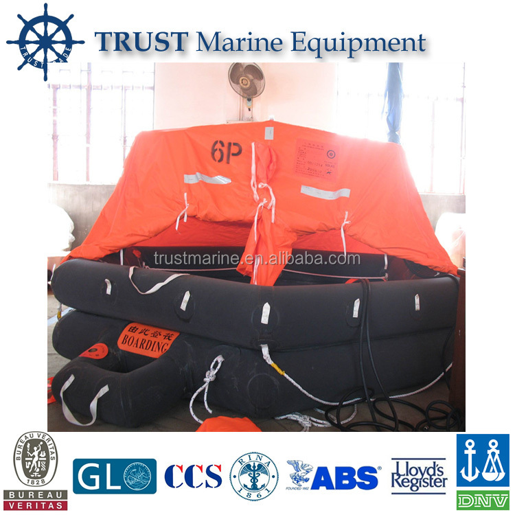 Marine CCS SOLAS approved cheap self inflating life raft price