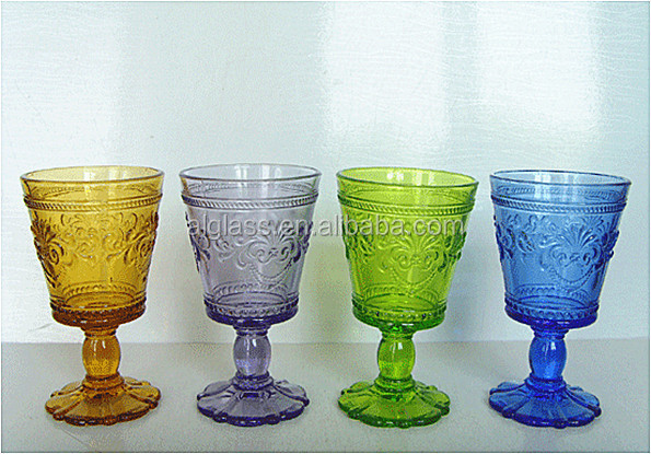 Colored short stem heavy wine glass view colored stem wine glass al colored short stem heavy - Wine glasses with thick stems ...